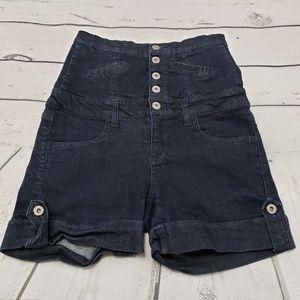 Cello Jeans Shorts Size 7 Womens Blue Denim High